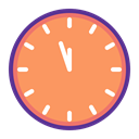 time, new year, Countdown, twelve, Clock SandyBrown icon