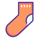 new, christmas, gift, year, clothing, sock SandyBrown icon