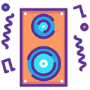 Deejay, music, speaker, party, Loud, noise, Fun Icon