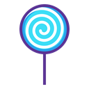 Lollipop, treat, confectionery, sugar, lollypop, sweet, Candy Black icon