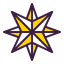 Twinkle, Bright, new year, pole, star, northern, shine DarkSlateGray icon