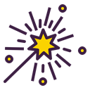 star, Wand, magic, magician, Fantasy, Witchcraft Icon