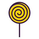 Lollipop, treat, confectionery, Candy, sugar, lollypop, sweet Black icon