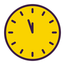 twelve, Clock, new, time, year, Countdown Gold icon