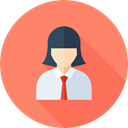 user, woman, profile, Avatar, Social, Businesswoman, Professions And Jobs Salmon icon