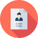 Information, Application, Working, education, worker, Curriculum, Business And Finance Coral icon