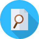 document, File, Archive, search, interface, job, Job Search, Seo And Web DodgerBlue icon