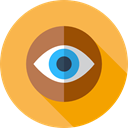 view, medical, interface, Eye, visible, Visibility, Seo And Web SandyBrown icon