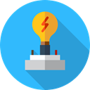 Light bulb, Idea, electricity, brainstorming, illumination, technology, invention, Seo And Web DodgerBlue icon
