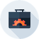 cogwheel, Seo And Web, settings, Briefcase, Process, suitcase Lavender icon