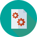 document, File, Archive, settings, Organization, Seo And Web DarkCyan icon