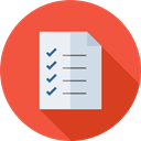 list, interface, tick, Check list, Tasks, checking, Files And Folders Tomato icon