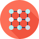 network, Multimedia, share, interface, shapes, social media, social network, connector, Circles, networking Coral icon