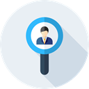 search, magnifying glass, Business, hiring, Loupe, Human resources, Seo And Web Lavender icon