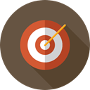Arrow, Target, darts, Archery, targeting, weapons, Dart Board, Seo And Web DarkOliveGreen icon