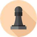 Bishop, Sports And Competition, Seo And Web, Game, chess, strategy, sport PeachPuff icon