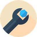 Edit Tools, Improvement, Seo And Web, Construction And Tools, repair, garage, Tools And Utensils, Home Repair, Wrench Bisque icon