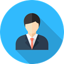 profession, Occupation, Professions And Jobs, people, user, Avatar, job, Businessman DodgerBlue icon