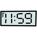 Clock, new, time, year, Countdown, twelve Black icon