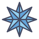star, northern, shine, Twinkle, Bright, new year, pole DarkSlateGray icon