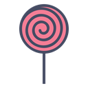 Candy, sugar, treat, confectionery, lollypop, sweet, Lollipop Black icon