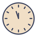 new year, Countdown, twelve, Clock, time Bisque icon
