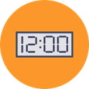Clock, new, time, year, new year, Countdown, twelve Goldenrod icon