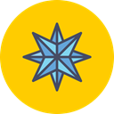 star, northern, shine, Twinkle, Bright, new year, pole Gold icon