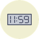 Clock, new, time, year, Countdown, twelve AntiqueWhite icon