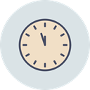 Clock, new, time, year, Countdown, twelve Gainsboro icon