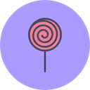 Candy, sugar, lollypop, sweet, Lollipop, treat, confectionery LightSteelBlue icon