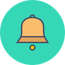 sound, bell, christmas, ring, jingle, new year, toll MediumTurquoise icon