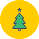new, Tree, christmas, year, decoration, Celebration Gold icon