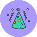 Celebrate, cone, new year, merry, birthday, party, Cap Icon