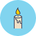 birthday, light, Candle, christmas, Bright, easter, new year SkyBlue icon