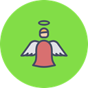 new, christmas, Angel, spirit, year, holy, fairy YellowGreen icon