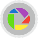 Chat, ineraction, Picasa, Social, Communication Silver icon