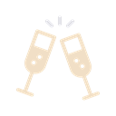 new, party, drink, year, champagne, treat, Cheers Black icon