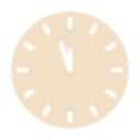 Clock, new, twelve, time, year, Countdown Bisque icon