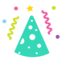 Cap, cone, new year, merry, Celebrate, birthday, party Icon