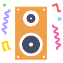 party, Loud, noise, Fun, Deejay, music, speaker SandyBrown icon