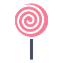 Candy, sugar, lollypop, sweet, Lollipop, treat, confectionery Black icon