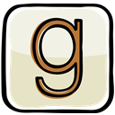 media, network, Book, sharing, Social, Goodreads, cataloging Bisque icon