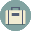 fly, Road, trip, Airport, travel, Things, suitcase LightSlateGray icon