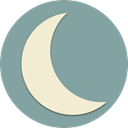 planet, Moon, night, light, space, Astronomy, moonlight LightSlateGray icon