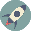 start, spaceship, Rocket, space, Astronaut, universe, Astronomy LightSlateGray icon