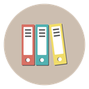 Folders, Archive, files, Books, documents, history Icon