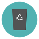 delete, remove, cancel, Trash, Bin, recycle, Garbage CadetBlue icon