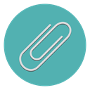 paper, Attach, Attachment, include, Paperclip, Clip, Collate CadetBlue icon