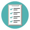 Clipboard, document, list, checkmark, Checklist, tracklist CadetBlue icon